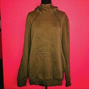 Puma Olive Greem Hooded Sweatshirt Unisex